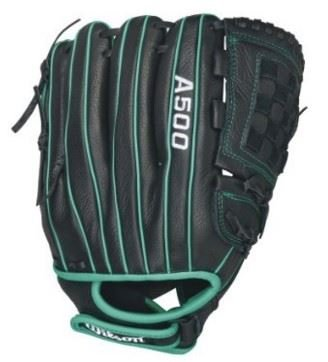 Wilson Siren Fastpitch Softball Glove 12 Inch, Blackteal