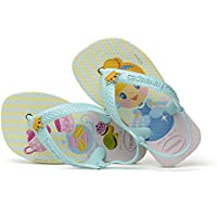 Havaianas Sandálias New Baby Disney Princess, Branco/Ice Blue, 20 Bra