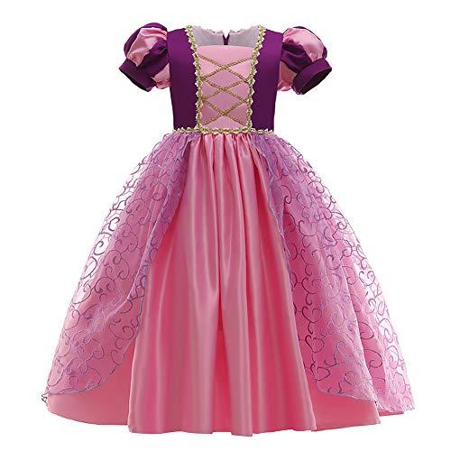 Nieuwe prinses Rapunzeljurk kostuum meisjes tule lange jurk kinderen verkleding Halloween cosplay party carnaval…