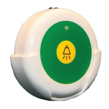Smart Caregiver Wireless Reset Button Compatible with Central Monitoring Alarms (433-CMU, 433-CMU-40, 433-CMU-30 or 433-EC) - Reset Up To 100 Feet ...