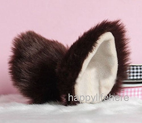 Sweet Fancy (Hot Sweet Lovely Anime Lolita Cosplay Fancy Neko Cat Ears Hair Clip Coffee with Skin Inside)