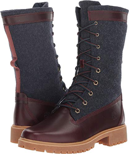 Timberland Women's Jayne Warm Gaiter Boot Burgundy Full Grain 8 B US