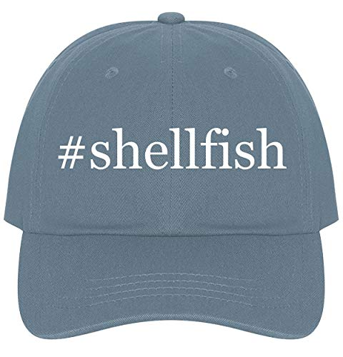 The Town Butler #Shellfish - A Nice Comfortable Adjustable Hashtag Dad Hat Cap, Light Blue