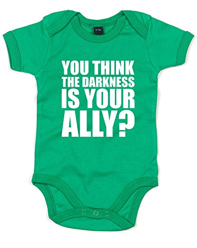 The Darkness, Printed Baby Grow - Kelly Green/White 12-18 Months