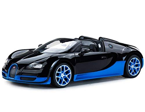 (Radio Remote Control 1/14 Bugatti Veyron 16.4 Grand Sport Vitesse Licensed RC Model Car (Black/Blue) )