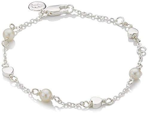 Molly Brown London - Pulsera con perlas de agua dulce y corazones de la Santa Comunión