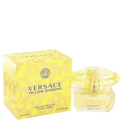 Versace Eau De Toilette Spray for Women, Yellow Diamond, 1.7 Ounce