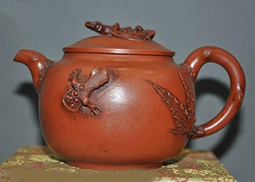 Zisha Old Pottery - SIYAO Wedding Decoration Old Chinese Yixing zisha Pottery Carving Gecko Statue Teapot Tea Set Tea Maker