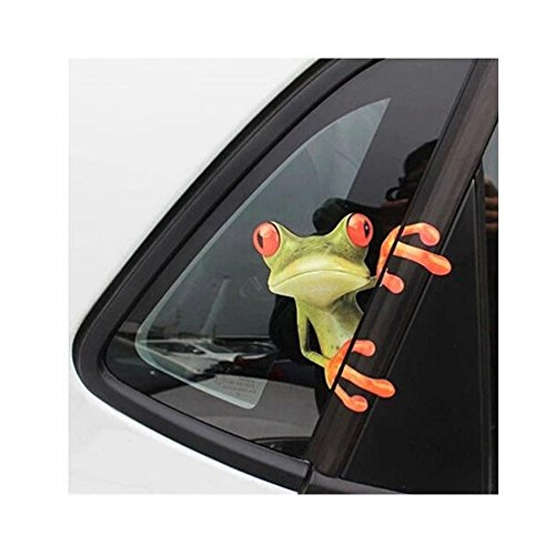 OKDEALS 3D Cute Peep frog funny car stickers Truck Window Vinyl Decal Graphics Auto (Truck Decal Sheet)