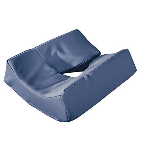 (Master Massage Patented Memory Foam Ergonomic Dream Face Cushion Pillow Headrest, Royal Blue)