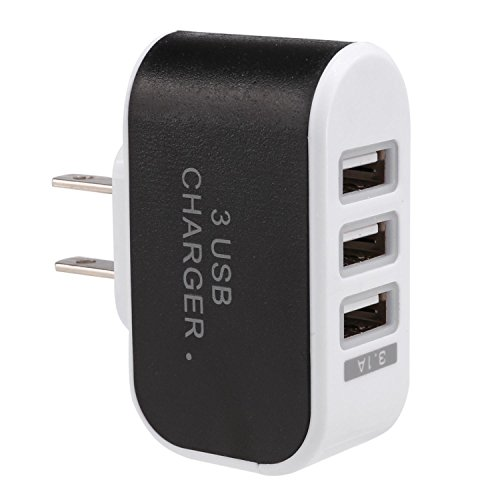 Chiak 3-Port USB Wall Home Travel AC Charger Adapter for Phone US Plu Wall Chargers