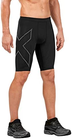 2XU Herren MCS Run Kompression Shorts Kurze Hose Sporthose Fitness Gym Schwarz