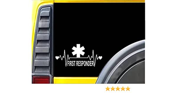 "Lifeline First Responder EMT Decal sticker M191 8/"" star of life heartbeat"