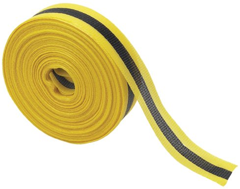 Brady 91176 - Barricade or Flagging Tape - Horizontal Striped, Black/Yellow (Horizontal Reflective Tape)