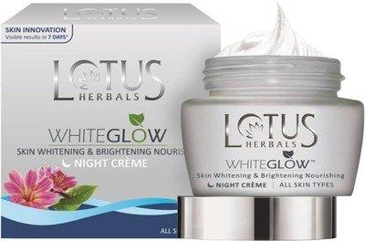 Lotus Herbals Whiteglow Skin Whitening & Brightening Nourishing Night Creme(60 G)