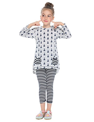 Price comparison product image Arshiner Little Girls Clothing Sets Bunny Printed Long Sleeve Outfits 2 PCS Top Leggings