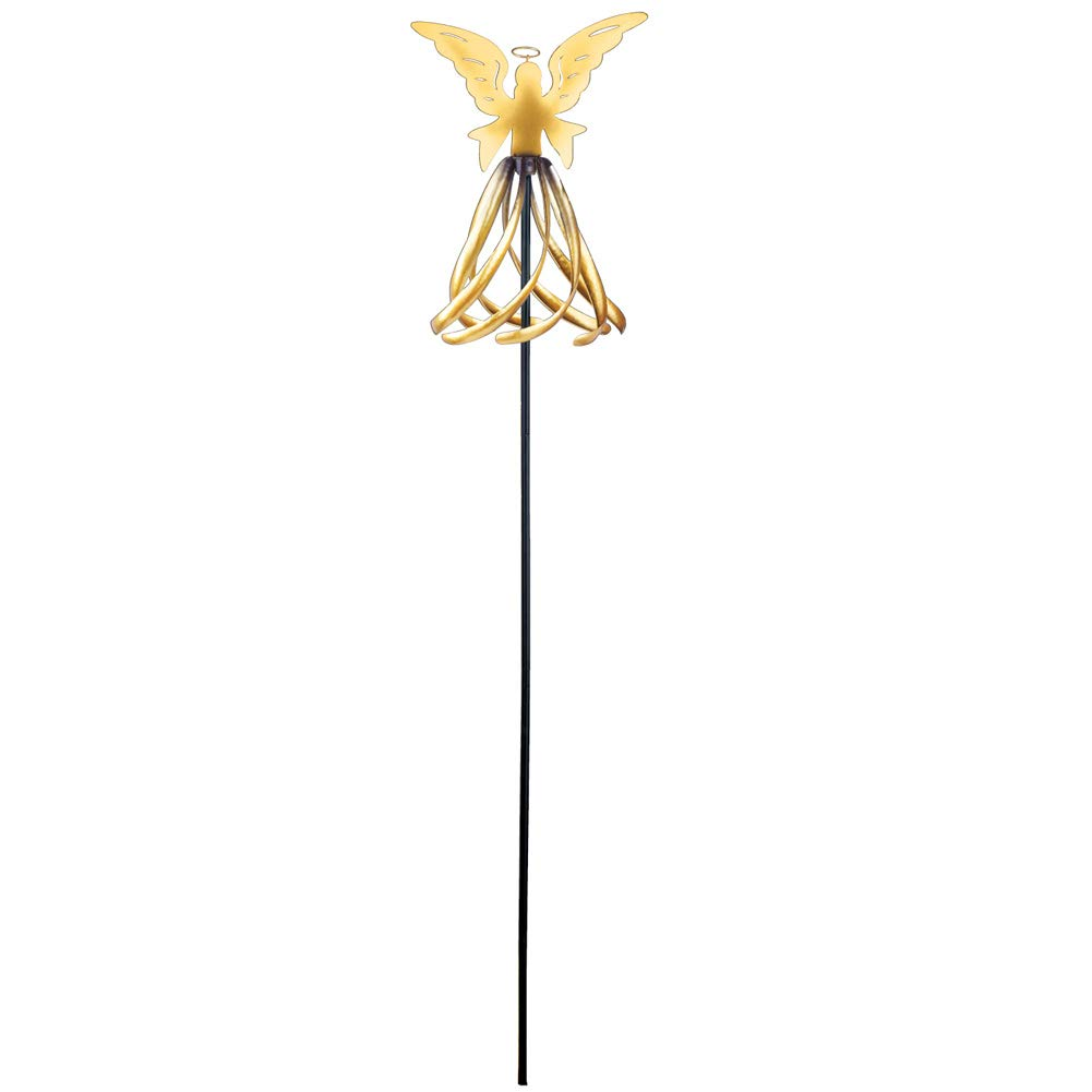 Golden Angel Wind Spinner Christmas Garden Stake by Collections Etc