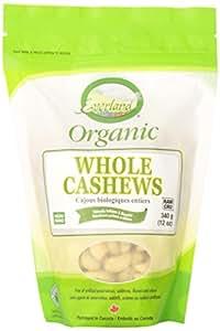 Everland Organic Whole Cashews, 340gm