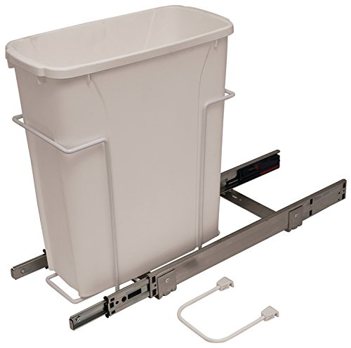 KV/Hafele Pull-Out Trash Can, 20 qts Capacity, Heavy Duty, Eco-Friendly, with Overtravel & Soft-Close, Easy Installation