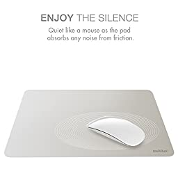 multifun Reusable Non-Slip Rubber Mouse Pads Waterproof Ultra Thin for Mac Silver
