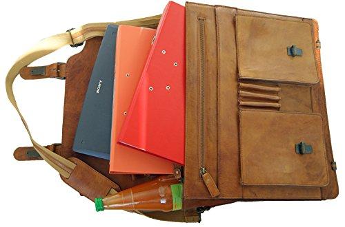 BARON de MALTZAHN - Mallette LINCOLN en cuir Rodeo - Ordinateur portable et classeurs toujours avec vous !