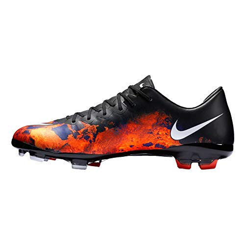 Nike Junior Mercurial Vapor X CR FG Football Boots 684841 Soccer Cleats (6 M US Toddler, Black White Total Crimson 018)