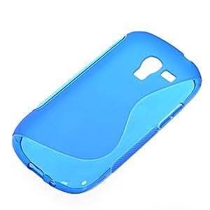 CASEPRADISE S-line Carcasa de TPU Gel silicona Funda Caso Tapa Cover Case Para Samsung Galaxy Exhibit T599 Bleu