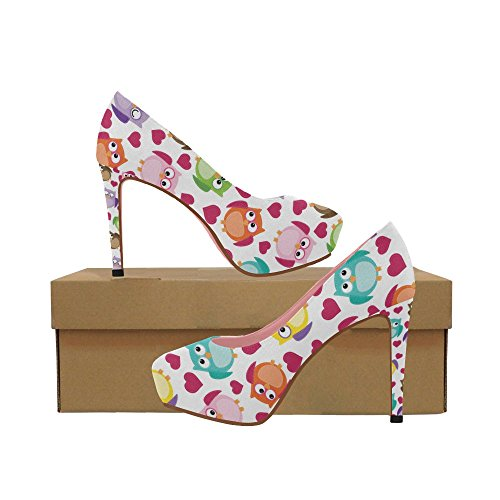 Cute Floral Butterfly Wedge Womens On InterestPrint Owl High Prin Colorful Shoes Aztec Color4 Heel Pumps Pattern qgY1y4w1xv
