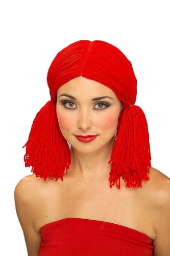 Forum Rag Doll Wig, Red, One