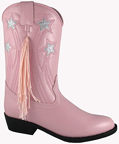 Smoky Mountain Girls Stars And Fringe Cowgirl Boot Pink