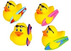 Set of 12 ~ Surfer Rubber Ducks