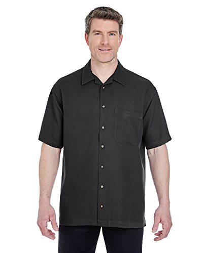 UltraClub Mens Cabana Breeze Camp Shirt (8980) -BLACK -XL