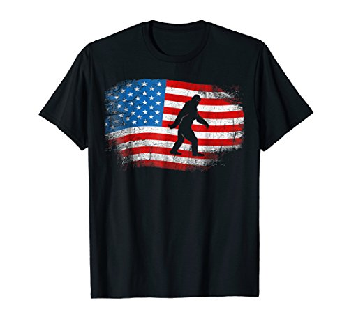 Sasquatch T-Shirt Believe America 4th July Bigfoot Yeti -