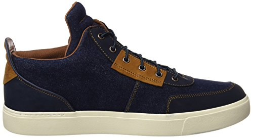 Timberland Herren Amherst Hightopcanvaschkdark Denim Canvas Chukka Boots Blau (Dark Denim Canvas)