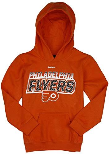 Reebok Philadelphia Flyers NHL Big Boys Bicarbonite Hoodie - Orange (Large (14/16)) (Orange Reebok Hoodie)