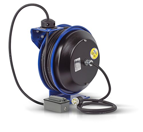 Reel Rewind Spring (Coxreels EZ-PC13-5012-F Safety Series Spring Rewind SJO Power Cord Reel, 115 Volts, 20 Amp, 50' Length)
