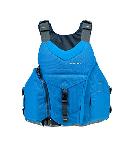 Astral Ringo Life Jacket PFD for Whitewater, Sea, Touring Kayaking, and Stand Up Paddle Boarding, Ocean Blue, -