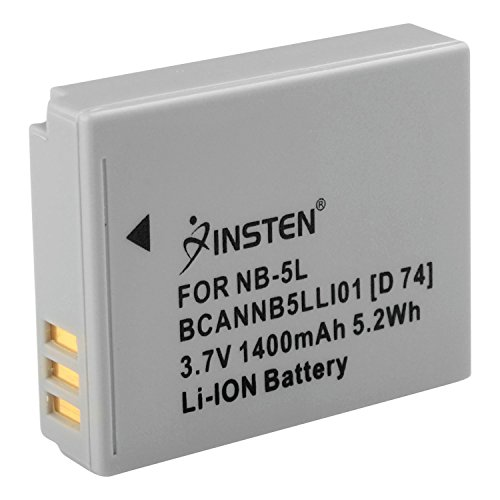 Insten Replacement Compatible with Canon NB-5L Li-Ion Battery for Canon PowerShot S-Series SD990 SD700IS SD790IS SD800IS SD950IS Digital ELPH S100 SD-Series SD700 IS SD790 IS SD800 SD800 IS SD880 NB5L