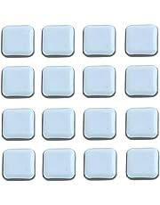 16 stuks Teflon meubelglijders, vierkante zelfklevende stoel been PTFE schuifregelaars, vloerbeschermers voor meubels Easy Movers, stoelglijders, houten vloeren, schuifregelaars - 25 x 25 mm
