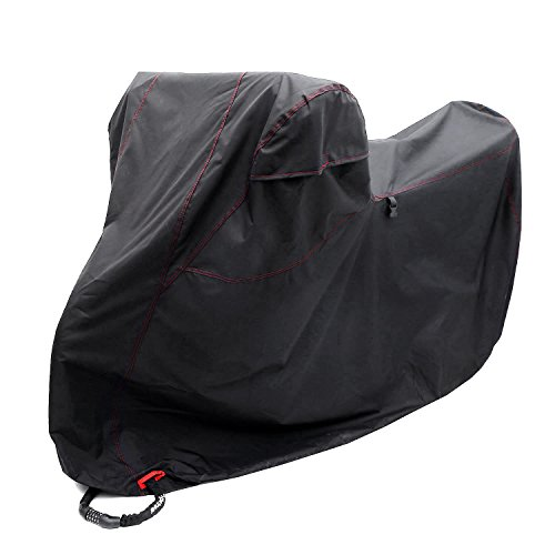 Ohuhu Motorcycle Cover, Waterproof DTY & 300D Oxford, Anti-theft 4 Lock-holes Design, 2 Air Vents, Durable & Tear Proof