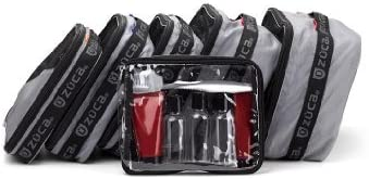 Zuca Flyer Set of 5 Packing Pouches with Toiletry Bag (Gray) / 89055900492