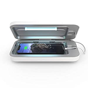 PhoneSoap 3 UV Cell Phone Sanitizer and Dual Universal Cell Phone Charger | Patented and Clinically Proven UV Light…