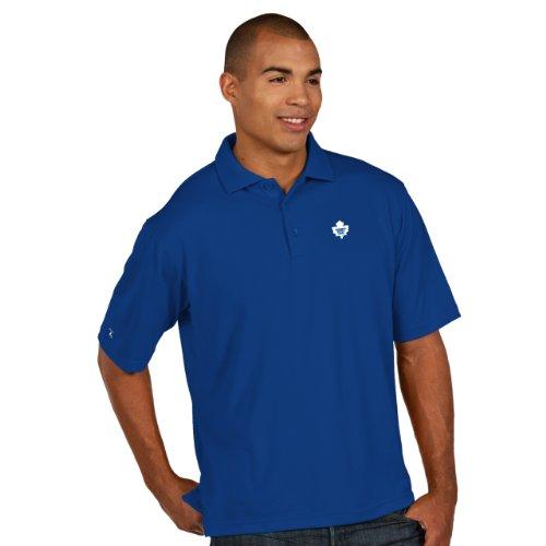 "Toronto Maple Leafs Antiqua NHL ""Pique"" Performance Polo Shirt Camicia - Blue"