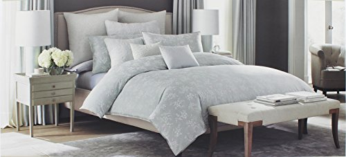 Barbara Barry King Size Duvet Cover from the Clover Bedding Collection with a Leaf Pattern