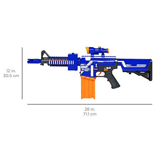 Best Choice Products Kids Soft Foam Semi-Automatic Dart Blaster Shooter Toy Gun w/ Load Cartridge, Sight Attachment, Long Distance Range, 20 Darts - Multicolor by Best Choice Products (Image #5)