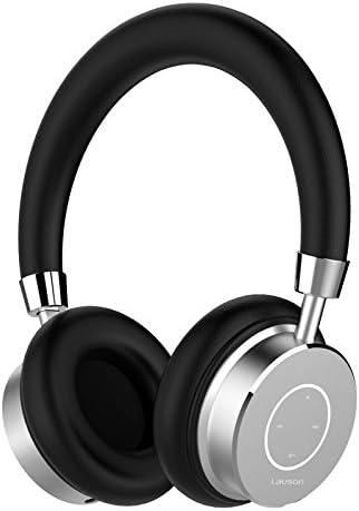Lauson - Auriculares Bluetooth Inalámbricos con micrófono, Manos libres y control de volumen, Acolchados e Indicador LED, Incluye cable USB de carga (Disponibles en varios colores), Plata aluminio: Amazon.es: Electrónica
