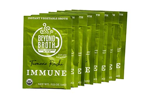 - Beyond Broth - Instant Vegan Sipping Broth (Immune, 9 Pack) - Organic Vegetable Broth Powder For On The Go Or Cooking - Gluten Free, Sugar Free, Low Sodium - Keto, Paleo, and Whole30 Friendly