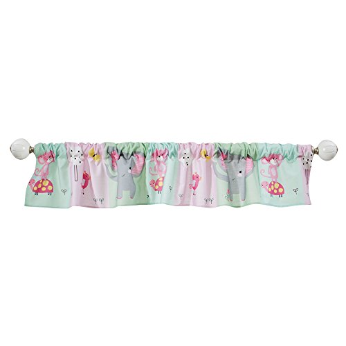 - Bedtime Originals Twinkle Toes Jungle Elephant Window Valance, Pink
