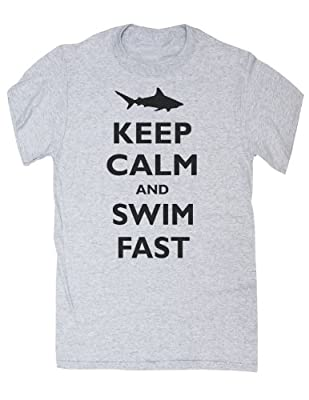 Keep Calm and Swim Fast Shark T-shirt