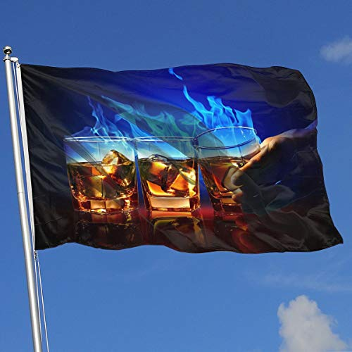 DENETRI DYERHOWARD Fly Breeze 3 X 5 Foot Flag Cocktail Vivid Color and UV Fade Resistant Canvas Header and Double Stitched Garden Flags